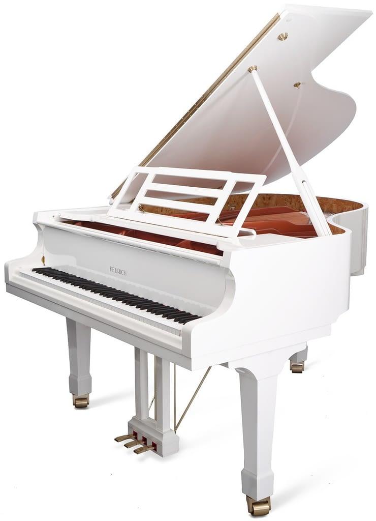 weißer Flügel Feurich Flügel 178, günstiger Flügel, Klavier-Atelier Burkhard Casper