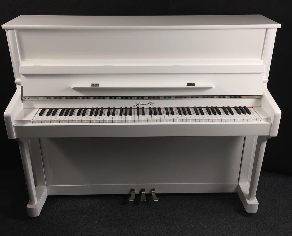 günstiges weißes Klavier