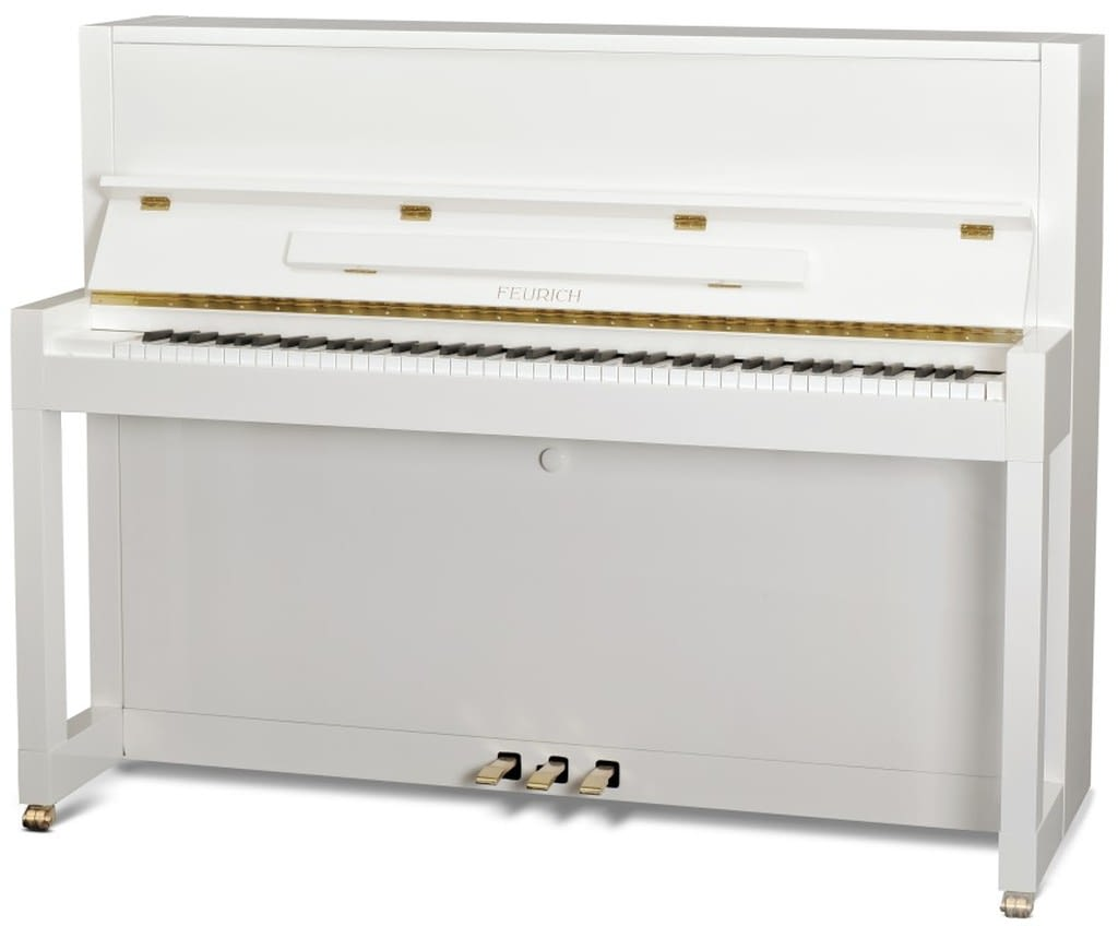 Feurich Klavier, weißes Klavier, Feurich Klavier 115, Klavier-Atelier Burkhard Casper