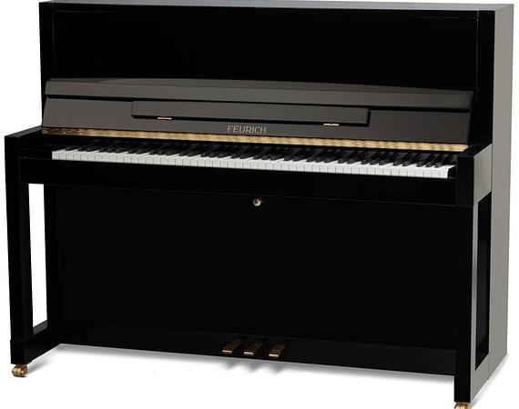 Feurich Klavier, schwarzes Klavier, Feurich Klavier 115, Klavier-Atelier Burkhard Casper