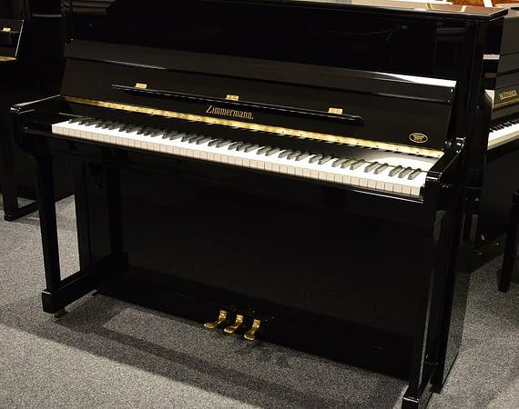 schwarz poliertes Zimmermann Klavier
