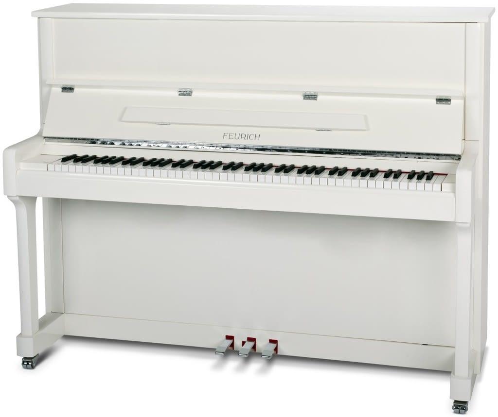 weißes Klavier, Feurich Klavier 122, Klavier-Atelier Burkhard Casper